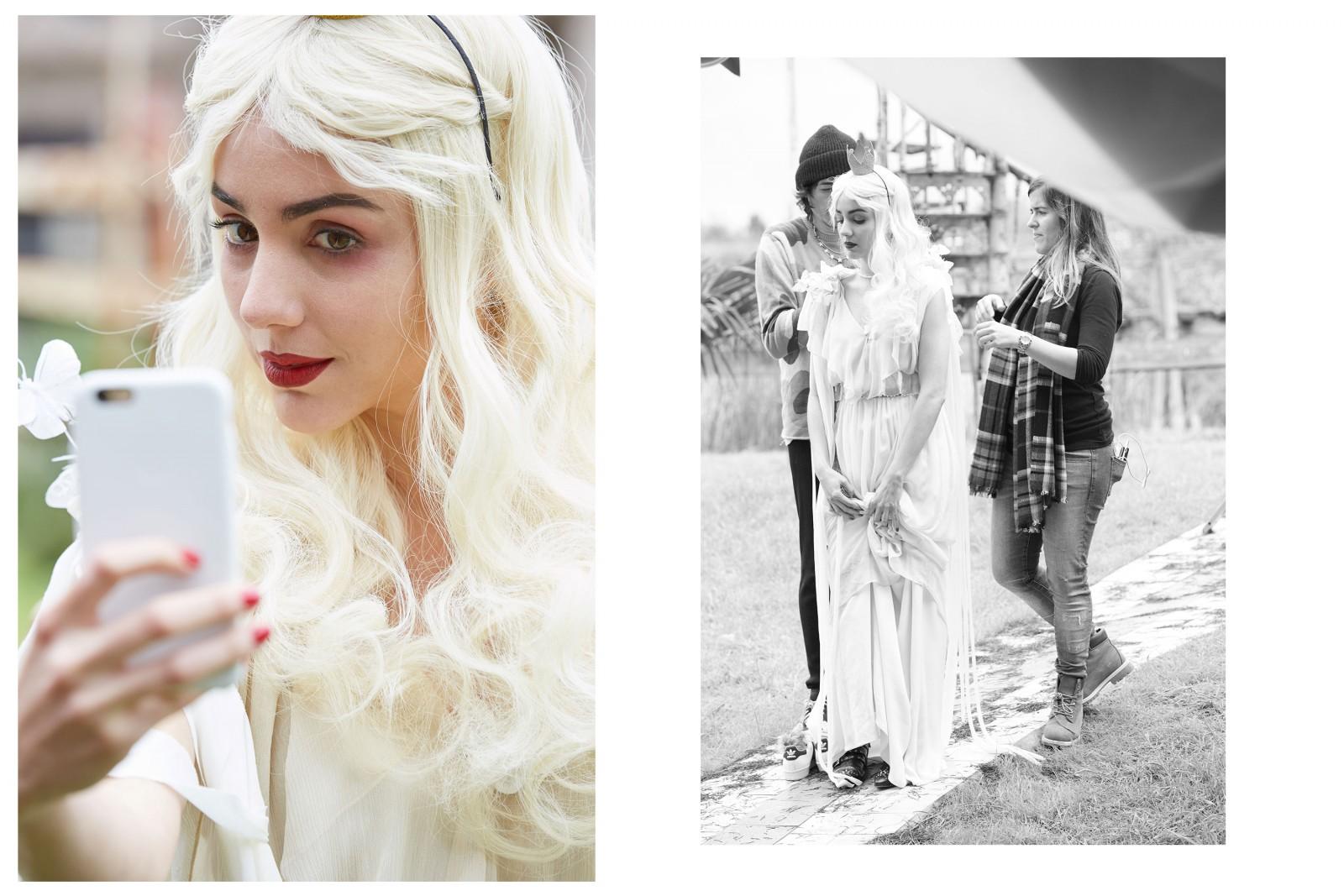 Chantal Torres como la Reina Blanca